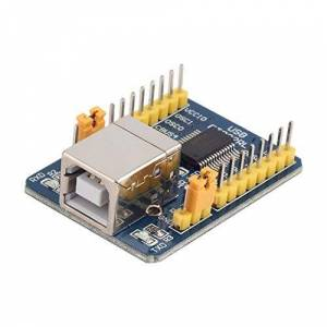 CamKpell Blue 40x29x13 mm 35g FT232RL USB to TTL Serial Converter Adapter Module 5V and 3.3V For Arduino Over-Current Protection - Blue