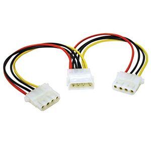 C2G 50CM 5.25 LP4 Male Molex to 2 x LP4 Female Molex Cable Splitter/Extender, Molex Y-Cable