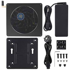 wosume 2.4g/5g Dual-band Wireless Network PC Host Full Metal Aluminum Alloy Body Computer Host Work Office Games for Home(Australian regulations)