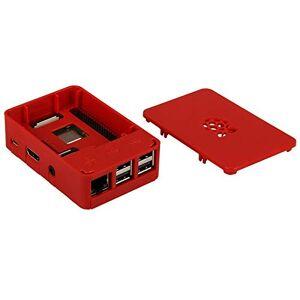 OneNineDesign Case for Raspberry Pi 3 Model B+ (auch for Pi 3, Pi 2 und Raspberry Pi Model B+ geeignet), belftet, europische Fertigung, Farbe: rot