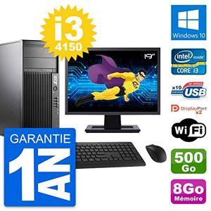 "HP PC Tour Z230 Screen 19 "" Intel i3-4150 RAM 8Go Hard Drive 500Go Windows 10 Wifi (Reconditioned)"