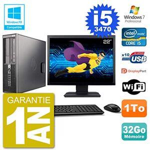"HP PC Z220 SFF Screen 22 "" Core i5-3470 RAM 32gb Disk 1 TB DVD Burner Wifi W7"