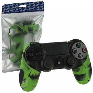 Zedlabz Cover for Sony PS4 controller SG-1 silicone rubber grip skin camouflage green ZedLabz