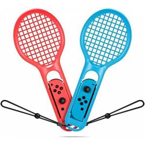 Sumlink Tennis Racket for Nintendo Switch Joy-Con Controller, SUMLINK Tennis Racket for Nintendo Switch Game Mario Tennis Aces(2 Pack-1x Blue,1x Red)