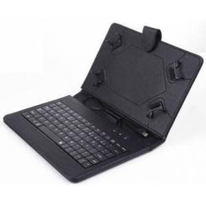 """XIDO Keyboard for 7"""" Tablet PC German QWERTY Layout (Case, Faux Leather, 1GB RAM, Mini USB) Laptop 7 Notebook 8 9 Stand Micro Android"""