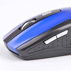 CamKpell 2.4GHZ 1600DPI Wireless Optical Mouse 6 Key for Games Office Leisure Use -Blue