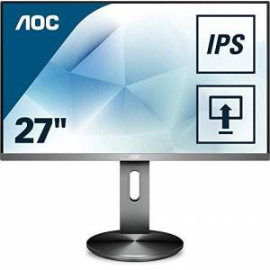 AOC I2790PQU/BT 27-Inch HD (1920x1080) 60Hz, 4ms Widescreen IPS LED Multimedia Monitor - intergrated speakers, height adjust