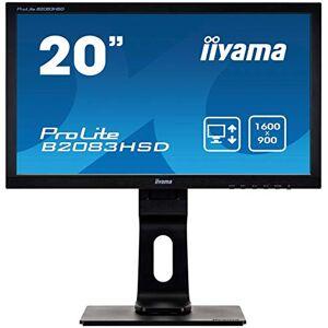 """IIYAMA B2083HSD-B1 20"""" TN LCD, 1600x900 , 250 cd/m Brightness, 1 x VGA, 1 x DVI, 2 x 1W Speakers, Height Adjustable Stand"""