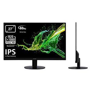 Acer SA270bid 27 inch FHD Monitor, (IPS Panel, 60Hz, 4ms, ZeroFrame, HDMI, DVI, VGA) Black