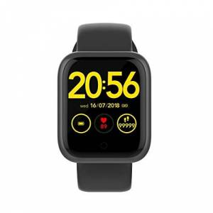 QYGGGsmart watch Smart watch GT1 Plus 1.3 inch TFT Screen IP68 Waterproof Smart Watch Smart Bracelet, Support Call Reminder/more functions/Sleep Monitoring (Black) (Color : Grey)