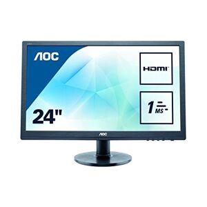 "AOC E2460SH 24"" LED FHD (1920x1080) 1ms monitor with Built-in speakers. (VGA, DVI, HDMI) - Black"