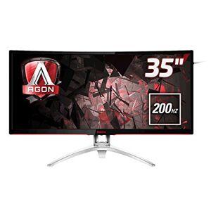 "AOC AGON AG352QCX 35"" Curved MVA LED WFHD (2560x1080) 21:9 Freesync 200Hz Gaming monitor with Built-in speakers. (VGA, DVI, HDMI, DisplayPort, USB 3.0 x 2) - Height adjust"