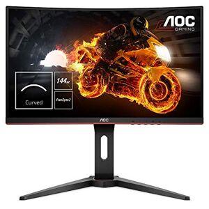 "AOC C24G1 24"" Curved VA LED FHD (1920x1080) FreeSync 144Hz Height Adjustable Gaming Monitor. (VGA, HDMI X 2, Displayport) - Black"