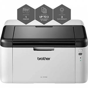 Brother HL-1210W 'All in Box Bundle' Mono Laser Printer - Single Function, Wireless/USB 2.0, Compact, A4 Printer, Up To 3 Years Worth Of Printing
