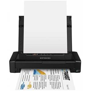 Epson C11CE05402 Workforce WF Inkjet Printer (Envelopes/Photo Paper/Plain Paper/A4/A5/A6), 100 W - Black