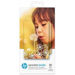HP Sprocket Studio Ink and Photo Paper-80 sheet/10 x 15 cm (4 x 6 in) Printing Paper - Printing Paper