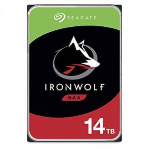 Seagate IronWolf , 14 TB, NAS Internal Hard Drive HDD, 3.5 Inch SATA 6 Gb/s 64 MB Cache for RAID NAS, and Three-year Rescue Services (ST14000VN0008)