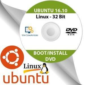 Soft-Stop Ubuntu Linux 16.10 32 Bit Operating System Install Live Bootable DVD