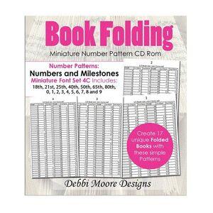 Debbi Moore Book Folding Miniature Font Set 4C Numbers & Milestones CD (326174)