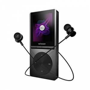 Wiwoo MP3 Player with Bluetooth 4.0, 16GB Music Player with FM Radio/Voice Recorder/Earphone, HiFi Lossless Sound Quality, Support Up To 128GB