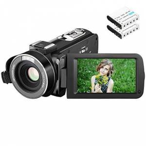 MILDSIX Video Camera Camcorder 1080P 24MP Full HDMILDSIX Digital Camera Video Recording 3.0 Inch LCD Stabilization 270 Degree Rotation Screen 16X Digital Zoom Camera Recorder With 2 Rechargeable Batteries