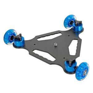 Khalia-Foto Ayex 3 Wheel Triangle Table Top Dolly Skater Slider Truck D3 for DSLR Camera DV Video