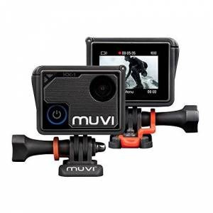 Veho Muvi KX-1 Action Camera KX-Series Handsfree Camcorder WiFi 4k Action Cam 12MP Photo Waterproof Housing LCD Touch Screen (VCC-008-KX1)