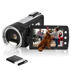 "Vmotal HG5162 Digital Video Camera 1080P FHD Camcorder / 2.7"" TFT LCD Flip Screen/ 270 Degree Rotatable Camcorder for Kids/Children/Beginners/Elderly"