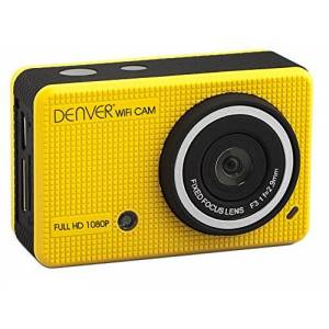 Denver ACT-5020TW Action Camera 1080p Full HD WiFi Waterproof 30m - Yellow