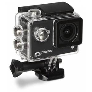 Kitvision Escape HD5W Full HD 1080p Waterproof Action Camera/Action Cam with Wi-Fi and Mounting Accessories, 30 fps/12 MP, Single Shot, Timed, Burst and Time Lapse Photo Modes, Waterproof Up to 30 m