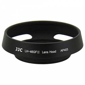 JJC Screw-on Camera Lens Hood Metal Sun Shade Cover for Panasonic Lumix G 20mm f/1.7 II ASPH Lens, 14mm f/2.5 ASPH Lens & Olympus M.ZUIKO Digital 17mm f/1.8 Lens/ED 60mm f/2.8 Macro Lens Hoods