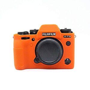 Zakao Fuji X-T3 Case, Zakao Soft Silicone Bag Lightweight Slim Skin Rubber Protective Digital Camera Case Cover for Fujifilm Fuji X-T3 XT3 (Orange)