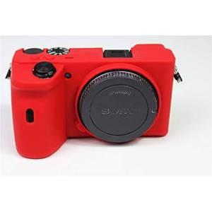 Zakao A6600 Case, Zakao Soft Silicone Bag Lightweight Slim Skin Rubber Protective Digital Camera Case Cover for Sony Alpha A6600 (Red)