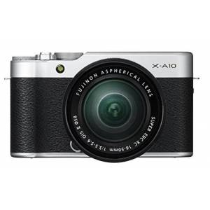Fuji 16534352 X-A10 Compact System Camera with XC16 - 50 mm Kit - Silver