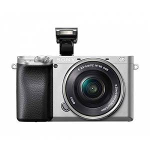 Sony Alpha 6100 E-Mount System Camera (24 Megapixels, 4K Video, 180 Touch Display, 0.02 sec. Real-time autofocus with 425 contrast AF points, OLED viewfinder, incl. SEL-P1650 lens, silver