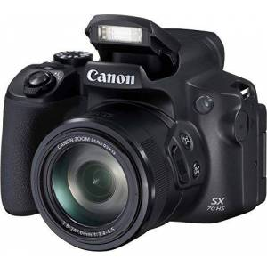 Canon PowerShot SX70 HS (20.3 MP, 65x optical zoom, swivel and rotate 7.5 cm LCD, Wi-Fi, 4K video)