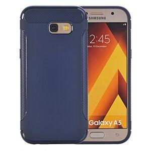 Qiaogle Phone Case - Soft TPU Silicone Case Cover Back Skin for Samsung Galaxy A7 (2017) / A720 (5.7 inch) - YU02 / Dark Blue