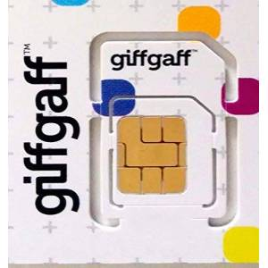 Giffgaff Trio/Multi Sim Card (5 Bonus Credit When You Topup 10) - Unlimited Calls, Texts and Data. Fits All Devices