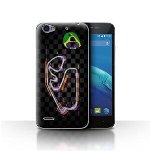 Stuff4 Phone Case for ZTE Blade A460 2014 F1 Track Brazil/So Paulo Design Transparent Slim Hard Cover