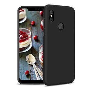 Casecool Case for Xiaomi Redmi Note 6 Pro Silicone Phone Case Gel Rubber Soft Touch Cover Slim Flexible TPU Protective Bumper Shockproof Premium Matte Skin Cover for Xiaomi Redmi Note 6 Pro, Black matte