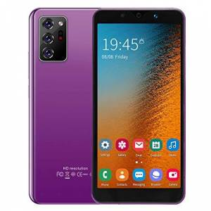Weiyiroty Unlocked Smartphones 3G, 5.72 Inch HD Full Screen, Dual Cards Dual Standby, Memory 2GB RAM +16GB ROM, 128GB Expandable Storage, APP Face Recognition and Fingerprint Unlock(Purple)