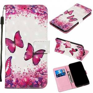 """kelman Case Cover for Apple iPhone 11 Pro (5.8"""") PU Leather + Soft Silicone TPU Inside Case Fashion 3D Painted Wallet Flip Phone Case - [#YB119]"""