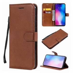 Qiaogle Samsung Galaxy S8 Case - Classic Solid Color Business PU Leather Stand Wallet Flip Case Cover for Samsung Galaxy S8 - KT80 / Brown