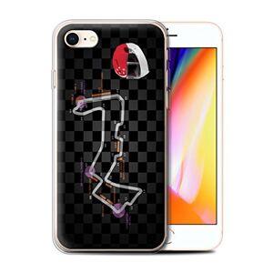Stuff4 Phone Case for Apple iPhone SE 2020 2014 F1 Track Singapore Transparent Clear Ultra Soft Flexi Silicone Gel/TPU Bumper Cover