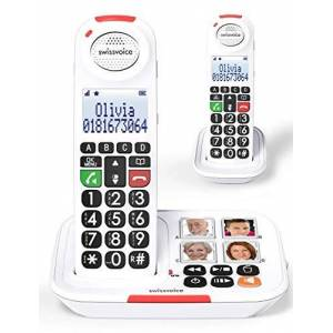 Swissvoice Xtra 2155 Cordless Duo Amplified Telephone With Answering Machine