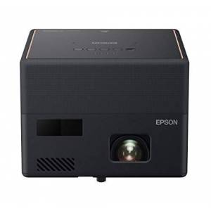 Epson EF-12 3LCD, Full HD, 1000 Lumens, 150 Inch Display, Android TV, Sound by Yamaha, Gaming & Home Cinema Projector - Black