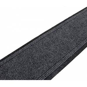 SrS Rugs Sydney Long Carpet Runner- EXTRA WIDE- Non-Slip Mat for Hall and Stairs. 80cm Wide. 5 Colours. Any length(Black, Length: 1' (30cm))
