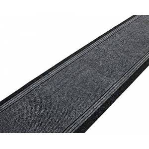 SrS Rugs Sydney Long Carpet Runner Non-Slip Mat for Hall and Stairs. 67cm Wide. 5 Colours. Any length(Grey, Length: 30' (914cm))