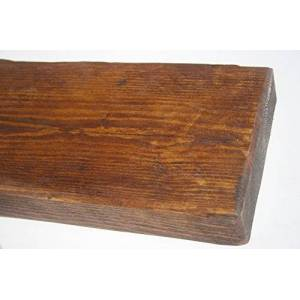 Winder Joinery Rustic Pine Distressed Floating Shelf Shelves Handmade Solid Wood Wooden Timber (7' (2134 mm), Tudor Oak)