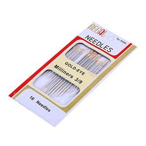 TXSD 16pcs Repair Hand Sewing Needles Mattress/Carpet/Sail/Upholstery Self Threading Needles Hand Sewing Darning Cloth Needles